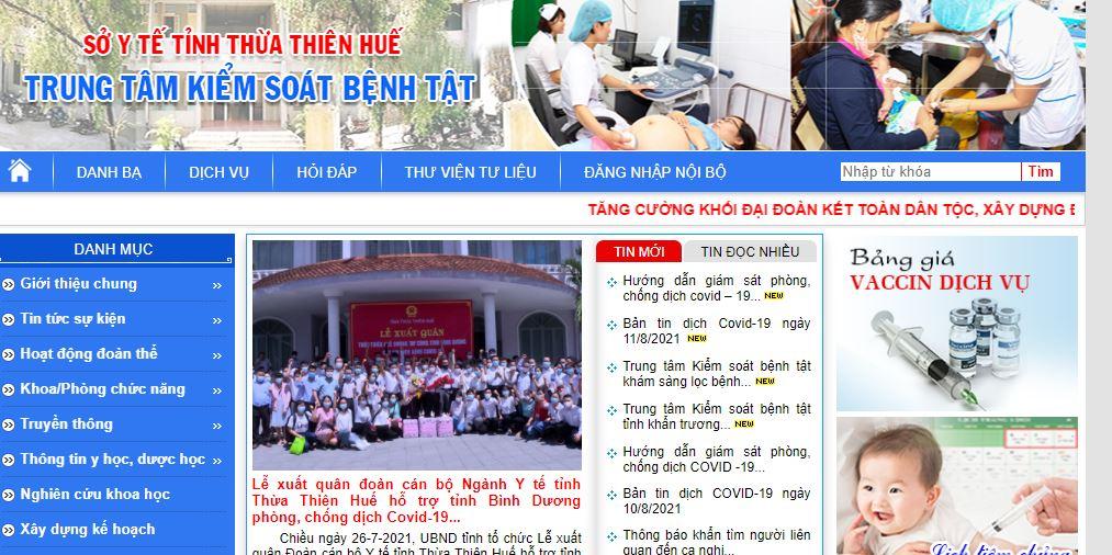 Sở y tế Thừa Thiên Huế
